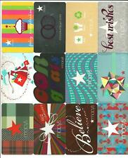 Lot (12) Macy's Gift Cards No $ Value Collectible w/ Diecut, Reflective, Spanish