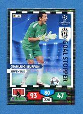 CHAMPIONS 2013-2014 -Adrenalyn Panini- Card GOAL STOPPER - BUFFON - JUVENTUS