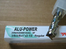 """3/8""""x1"""" LOCx 2 1/2"""" OAL, ALU-POWER 3 Flute Carbide End Mill, YG-1 brand """"NEW"""""""