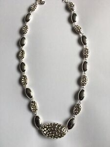 Rachel Galley Pebble Necklace Rhodium Overlay Sterling Silver 925