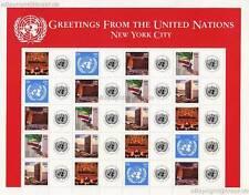 UNO NEW YORK - 2006 GRUSSMARKEN BOGEN 39c 1005-09 ** - S 10