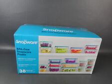 Plastic Food Storage Set, 38 Pieces, Snapware Food Storage (Complete) Opened Box
