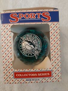 """1997 Florida Marlins 3.25"""" Ball Ornament NEW in box Sports Collector Series"""