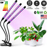 60 LED 3 Head Grow Light Full Spectrum Desk Clip Lamp Indoor Plants Seed Adjust