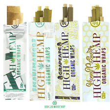 High Hemp COMBO DEAL Herbal Organic Wraps 20 pouches(40 total wraps) Free Minty