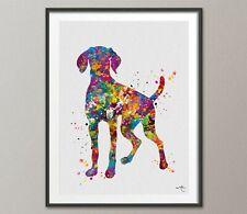 Hungarian Vizsla Dog Watercolor Print Magyar Dog Pet Gift Dog Love Doglover-1433