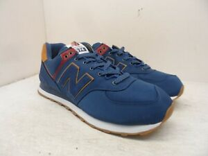 New Balance Men's 574v2 Athletic Sneakers ML574BPH Blue/Brown/Red Size 12M
