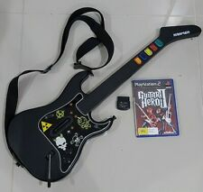 Guitar Hero Wireless Controller PS2 PlayStation 2 Includes Dongle And Game