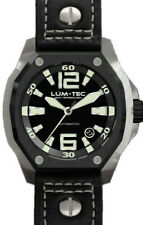 Lum-Tec Watch V7 Automatic Mens Black Leather Limited Edition AUTHORIZED DEALER