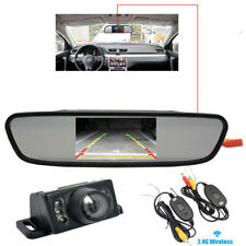 "Mini Rückfahrkamera IR LED´s mit Distanzlinien & Monitor 4,3"" & Funkübertragung"