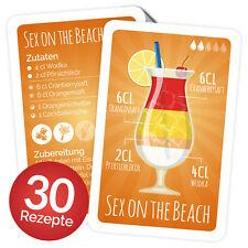 33 Cocktail Rezeptkarten (30 Cocktail Rezepte + Erklärung,deutsch)