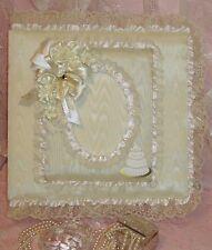 "Wedding Cake w/ Satin Rosettes 12""x12"" Ivory Photo Album & Scrapbook"