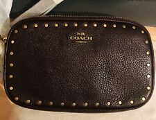 Coach crossbody clutch with rivets oxblood RRP £180