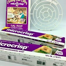 MICROCRISP Microwave Crisping Browning KIT Cookbook Wraps Cooking Rack Mitchell