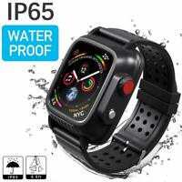 For Apple Watch Series 3 42mm 38mm Waterproof Case & Premium Soft Silicone Band
