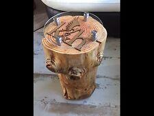 BELLISSIMO ROUND realizzati a mano tronco Lampada Stand tabelle... tutti fatti per ordine!