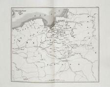 1857 Ostpreussen Königsberg Polen Russland Russia Napoleon Kupferstich-Plan