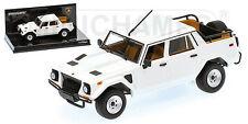 MINICHAMPS 436103375 échelle 1:43, Lamborghini lm002 - 1984-White #neu dans neuf dans sa boîte #