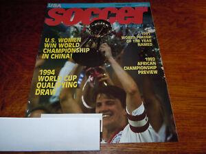 "VINTAGE "" SOCCER INTERNATIONAL "" MAGAZINE - FEBRUARY 1992"