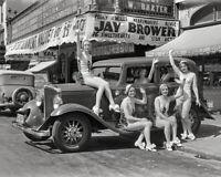 Vintage 1932 Photo - Showgirls with Essex Super Six Car at El Capitan Theatre