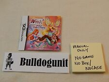 Winx Club Magical Fairy Party Nintendo DS Manual Instruction Book Only NO Game