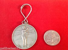 All The Way Pewter Key Chain Showing A golfers Reaction To Draining A Long Putt!