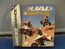 Quad Desert Fury  BOXED NINTENDO Game Boy Advance