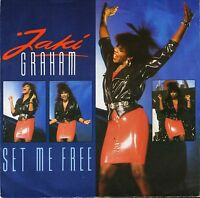 "JAKI GRAHAM set me free/stop the world JAKI 7 uk emi 1986 7"" PS EX/EX"