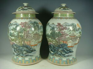beautiful chinese famille rose porcelain pots