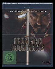 BLU-RAY IRON MAN 1 + 2 - COLLECTORS EDITION - ROBERT DOWNEY JR + MICKEY ROURKE *