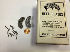 2 pair of metal shoe / boot BOSTON heel plates protectors star nails size SMALL