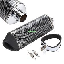 Carbon Fiber Universal 38mm Motorcycle Exhaust Pipe Muffler DB Killer Silencer