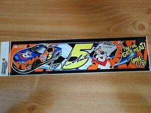"""NEW 2001 Sports Design Terry Labonte Kellogg's Tony the Tiger 12"""" Bumper Sticker"""