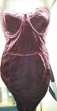 H&M Samtkleid Minikleid Abendkleid bandeu Kleid gr.40 neu