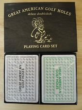 Great American Golf Holes Deluxe Doubledeck Playing Card Set w/ Sealed Decks