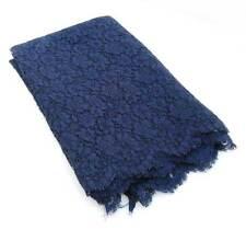 Retal de tela de encaje color azul marino 85 x 444 cm