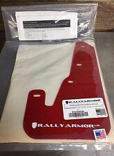 Rally Armor Urethane Red Mud Flap Kit w/ White Logo MF9-UR-RD/WH 04-09 Mazda 3