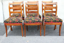 Great Antique Set of Six English Country Style Walnut Dining Room Chairs