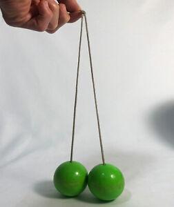 Vintage 1970's Click Clack Rockers Clacker Balls Knockers Green Klik Klak