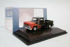 Oxford - CHEVROLET STEPSIDE Pick up 1965 custom noir Voiture US Neuf HO 1/87