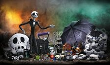 """The Nightmare Before Christmas Jack Movie  Fabric poster 21"""" x 13"""" Decor 05"""