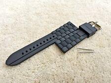 Black Strap Fits Emporio Armani Ar5856/Ar5865/Ar5866/Ar58 75/Ar5876/Ar5877/Ar5878