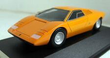 PremiumX 1/43 Scale PR0183 Lamborghini Countach Prototype Orange Resin model car