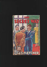 VINTAGE 1920'U.K. CRIME THRILLER. SECRET WAY BY FLETCHER.RARE TITLE.GREAT COVER.