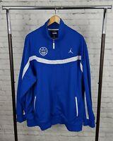 Nike Team Jordan Jacket Mens Blue And White Dri-fit Full Zip Size XLarge