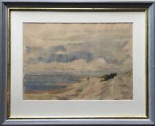 ERICH WESSEL 1906 - 1985 AM STRAND VON DUHNEN - CUXHAVEN - NORDSEE 44 X 54 CM
