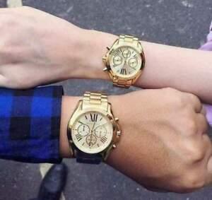 Michael Kors Bradshaw Couple Gold-tone Champagne Dial Watch