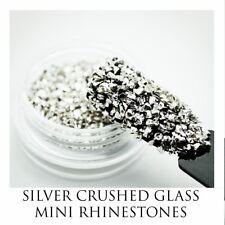 USA Crushed Glass Glitter Rhinestones Solvent-Resistant Acrylic Gel Nail Art