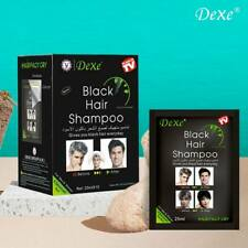 10 PCS Black Hair Shampoo Instant Hair Dye for Men Women Black Colour