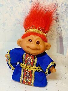 "2001 Playmates Troll Company ~ King Azul TT Totally Troll Doll ~ 5.5"""